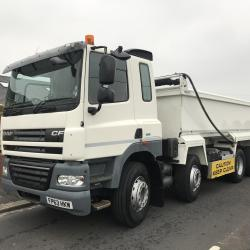 DAF CF 85.410 8X4 STEEL BODY TIPPER TIPPER WITH EASY SHEET AUTO TAIL GATE WEIGHER SYSTEM