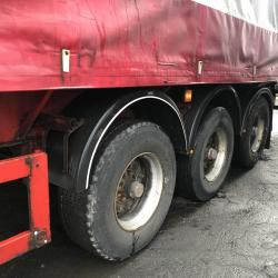 Krone tri axles trailer with coil v and slide sheet Drum brakes bpw axles