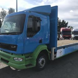 Daf Lf 55.180 13 ton flat bed truck Manual gearbox steel suspension sleeper cab