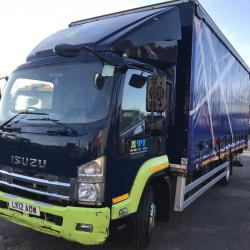 ISUZU FRR 90-110 .220 11 ton curtain side truck With tail lift auto gear box