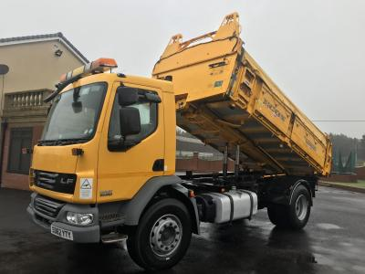 DAF LF 55.250 18 ton 3 WAY TIPPER Manual gearbox ex council