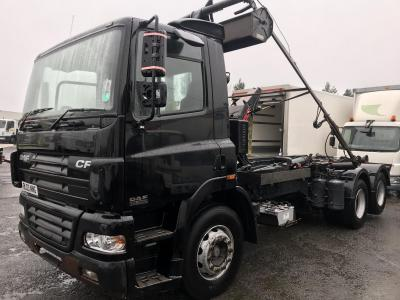 Daf cf 85.360 6x2 hook loader Multi lift hiab skip loader