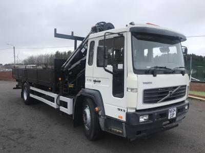 VOLVO FL6 13 FITTED WITH HIAB 085 triple boom crane On board compressor ex council only 47.000 miles