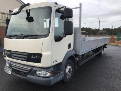 DAF LF 46.160 7.5 ton flat bed truck 24 ft Ideal scaffolding