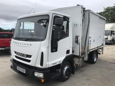IVECO EUROCARGO TIPPER Refuse truck side bin lift ex council