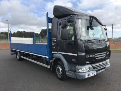 DAF LF 45.210 12 ton ALLOY DROP SIDE TRUCK WITH TAIL LIFT 23ft air suspension air conditioning